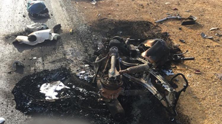 Moto ficou completamente destruída após acidente - Foto: Reprodução   Blog Braga