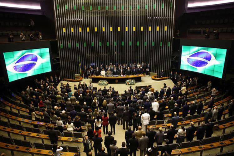 Sessão solene no Congresso Nacional de abertura dos trabalhos do ano legislativo de 2018 - Foto: Wilson Dias l Agência Brasil