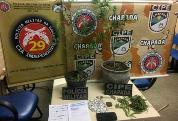 O adolescente assumiu ser o dono das drogas - Foto: Reprodução | Itiruçu Online