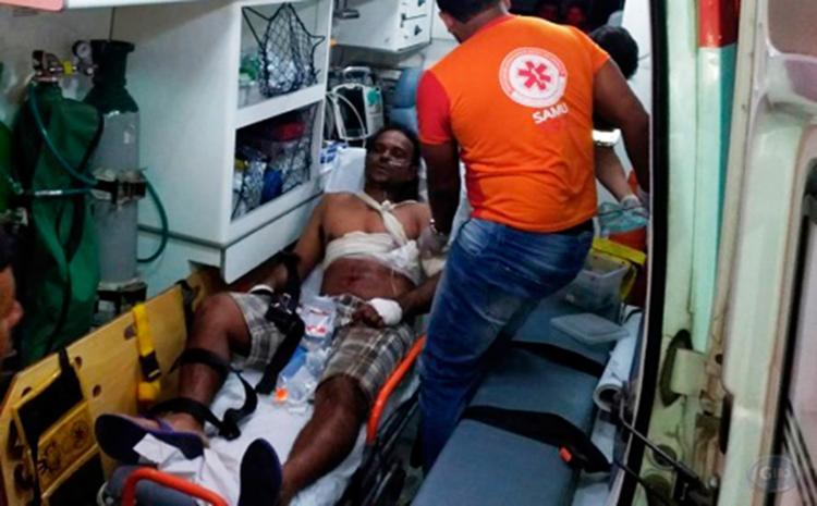 Vítima foi encaminhada ao Hospital Geral Prado Valadares, em Jequié - Foto: Reprodução | Giro em Ipiaú