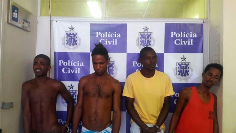 Quarteto foi flagrado em um prédio no Comércio - Foto: Divulgação   SSP-BA
