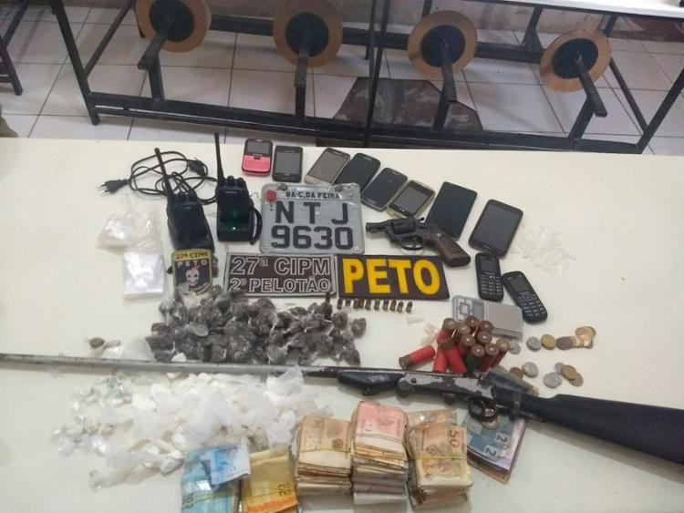 Material foi encontrado pela polícia com os suspeitos - Foto: Divulgação   PM-BA