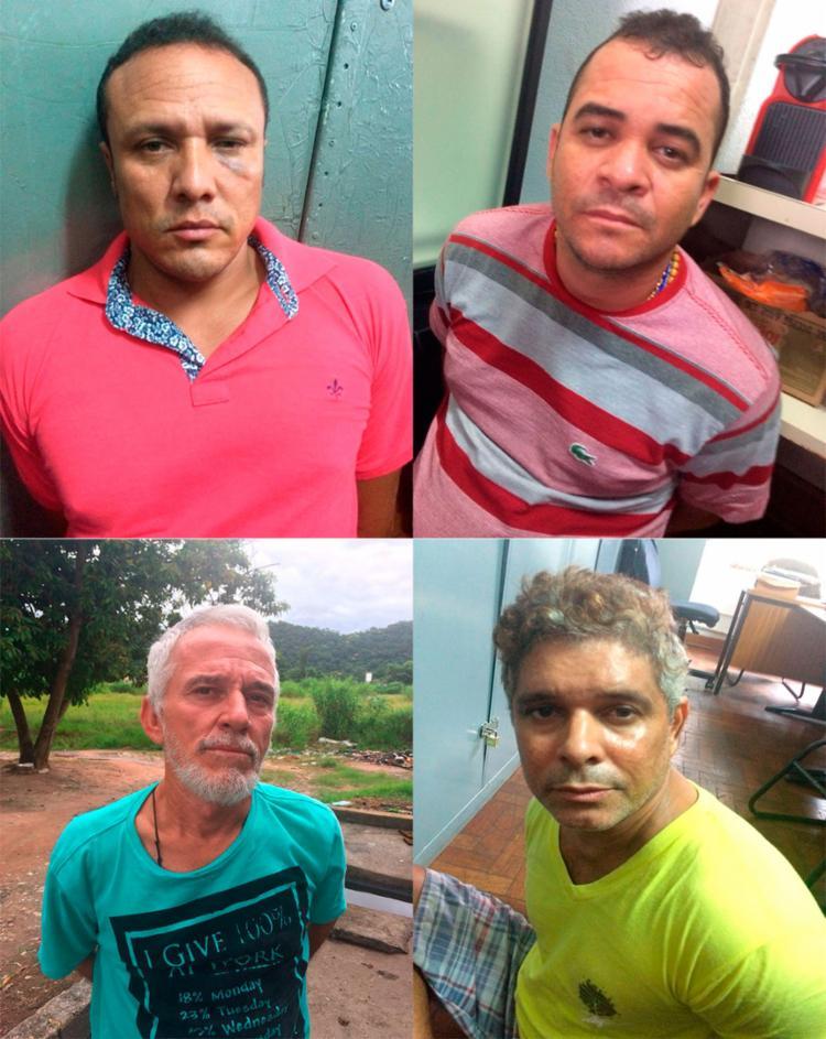 Quarteto foi detido em churrascaria de São Paulo - Foto: Reprodução | SSP-BA