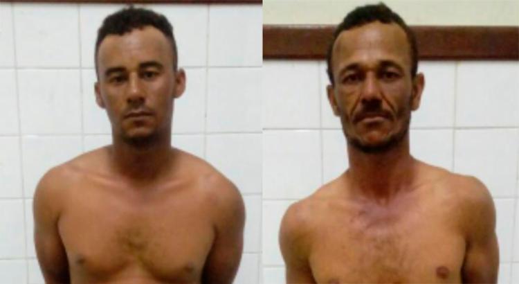 Dupla é presa suspeita de matarem um comerciante da região - Foto: Divulgação   SSP