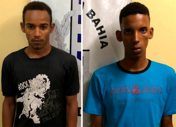 Dupla foi presa durante festejos de emancipação da cidade - Foto: Divulgação   Polícia Civil