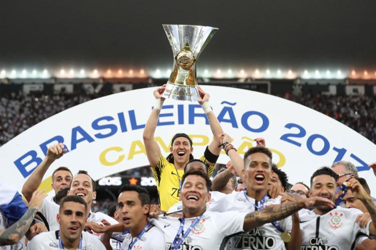 Corinthians é o atual campeão brasileiro - Foto: Lucas Figueiredo | CBF | 26/11/2017