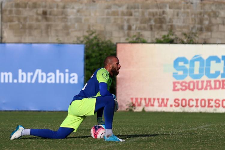 Goleiro Tricolor teve a primeira chance no time titular após oito meses na equipe - Foto: Felipe Oliveira | EC Bahia | Divulgação