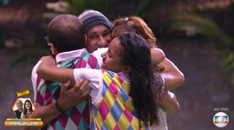 Ayrton e Ana Clara, da família Lima, conquistaram a liderança pela 2ª vez consecutiva - Foto: Reprodução   TV Globo