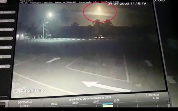 O suposto fenômeno teria sido registrado por câmeras de segurança de condomínio - Foto: Reprodução l ATARDETV