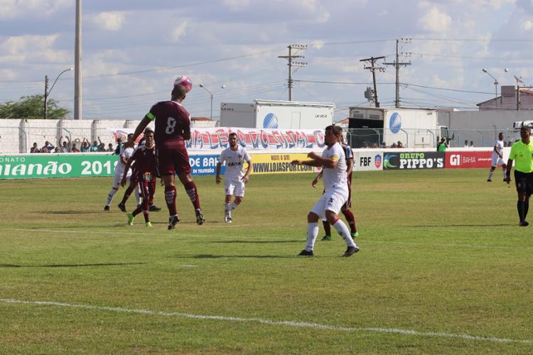 Jogo ocorreu no Estádio Eliel Martins, em Riachão do Jacuípe - Foto: André Hiltner | EC Vitória