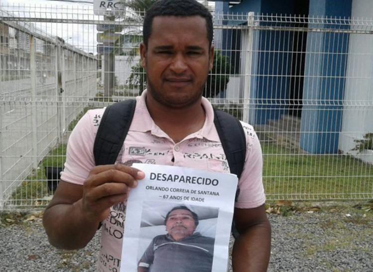 Orlando Correio de Santana foi liberado da UPA no dia 29 de janeiro e não retornou para casa - Foto: Reprodução | Acorda Cidade