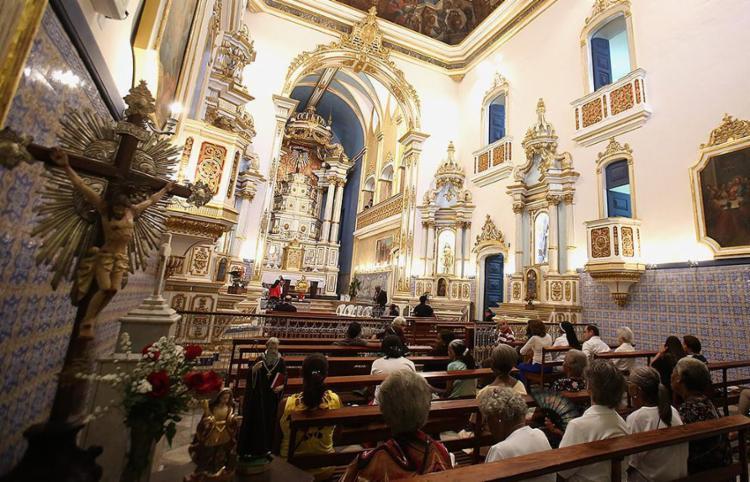Imagens, altares, telas e forros foram totalmente recuperados - Foto: Joá Souza l Ag. A TARDE