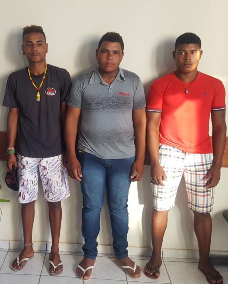 Suspeitos foram levados para a Delegacia Territorial de Itabela - Foto: Divulgação | SSP