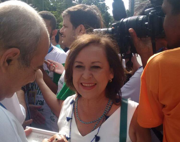 Senadora fez comentário ao ser perguntada sobre o PSB compor a chapa do governador Rui Costa (PT) - Foto: Regina Bochicchio | Ag. A TARDE