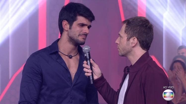 Lucas perdeu a disputa para Diego e Caruso - Foto: Reprodução   TV Globo