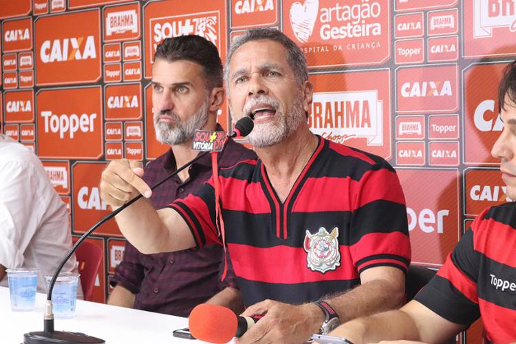Presidente do Leão disse acreditar em Mancini e garantiu treinador no cargo - Foto: Maurícia da Matta l EC Vitória