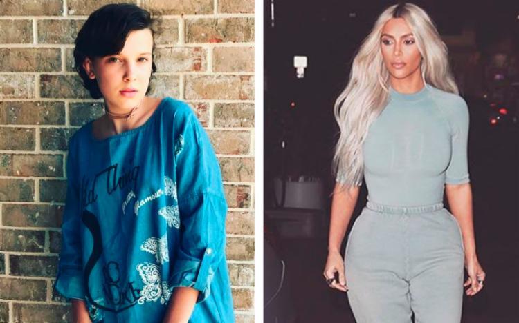 Millie, estrela de Stranger Things, recebeu perfumes e maquiagens da Kim Kardashian - Foto: Reprodução | Instagram