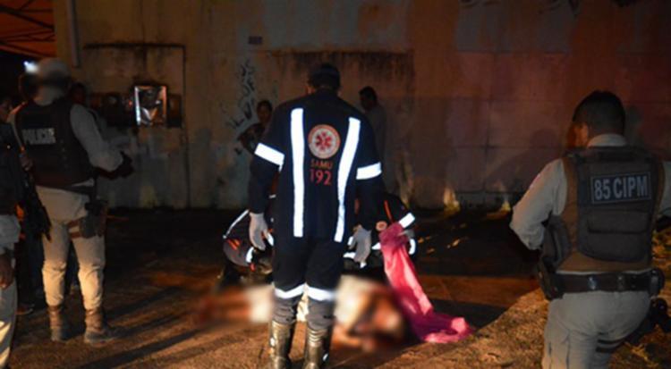 A vítima chegou a ser socorrida por uma equipe doo Samu, mas não resistiu. - Foto: Reprodução   Blog Braga