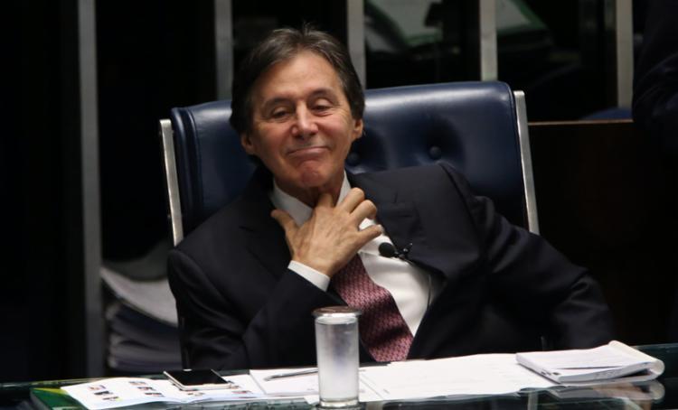 Eunício Oliveira defendeu autonomia do Senado - Foto: Givaldo Barbosa | Agência O Globo