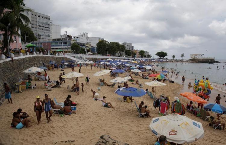 A praia da Barra é uma das consideradas impróprias - Foto: Alessandra Lori | Ag. A TARDE