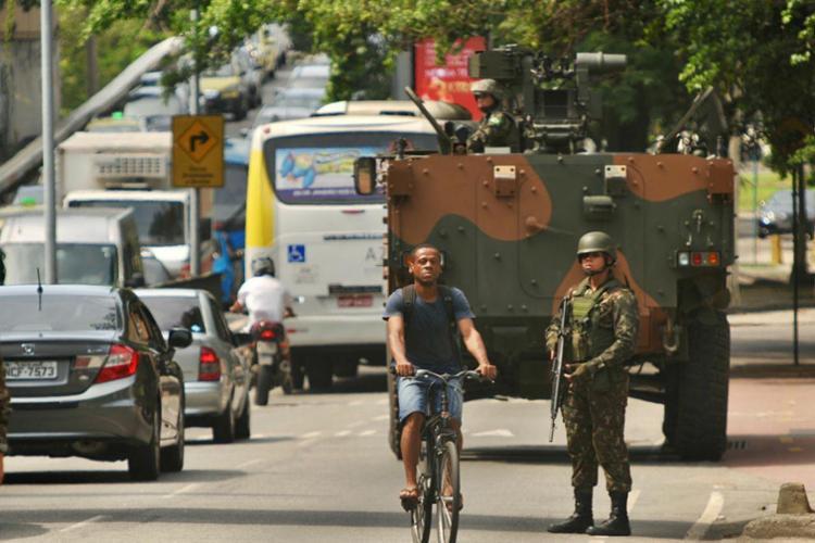 Rio está sob intervenção federal na área de segurança desde 21 de fevereiro - Foto: Alessandro Buzas   Futura Press