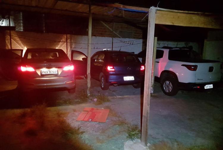 Quatro veículos foram recuperados durante a ação policial - Foto: Divulgação   SSP-BA