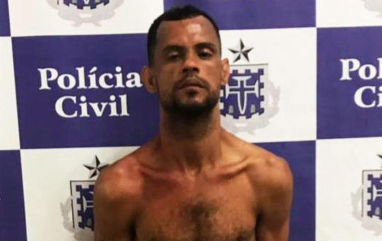 Adriano Silva Conceição dos Santos foi preso em flagrante após cometer o crime - Foto: Divulgação   Polícia Civil