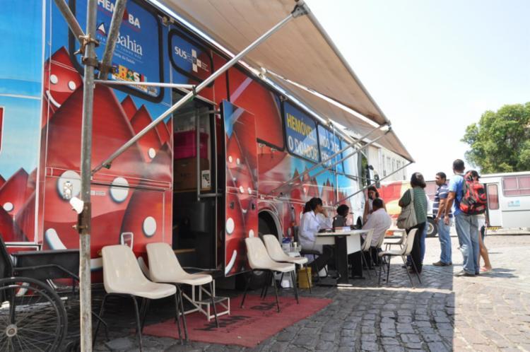Hemoba possui quatro unidades móveis de coleta - Foto: Divulgação
