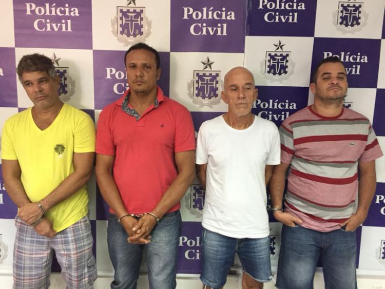 Eles foram apresentados na unidade de Polícia Civil, que fica no bairro da Pituba - Foto: Divulgação | Polícia Civil