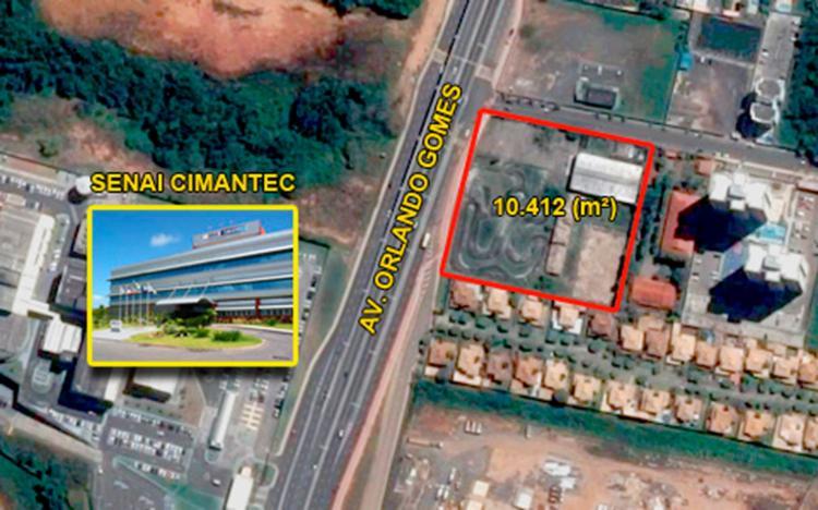 Maior desses terrenos fica em Piatã e tem área plana de 10.412 m2 - Foto: Divulgação | Sefaz