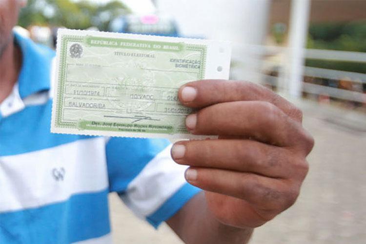 Biometria: 21,5% dos eleitores não fizeram recadastramento - Foto: Joá Souza | Ag. A TARDE