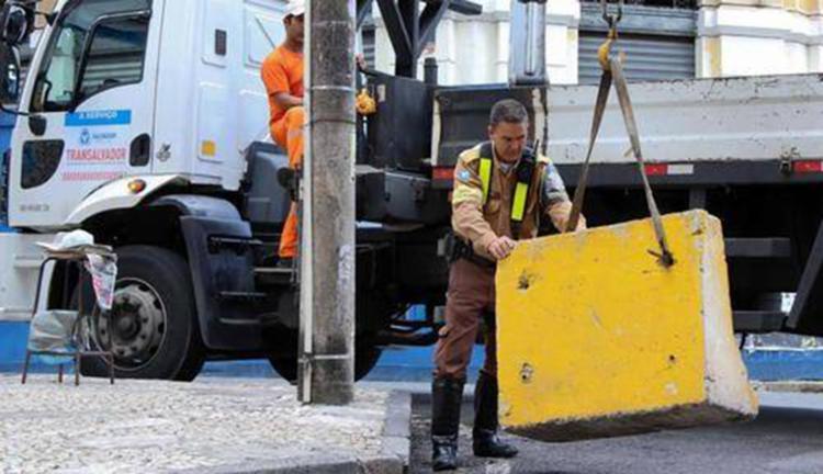 Remoção das barreiras na Barra ocorre de forma gradativa - Foto: Divulgação | Secom
