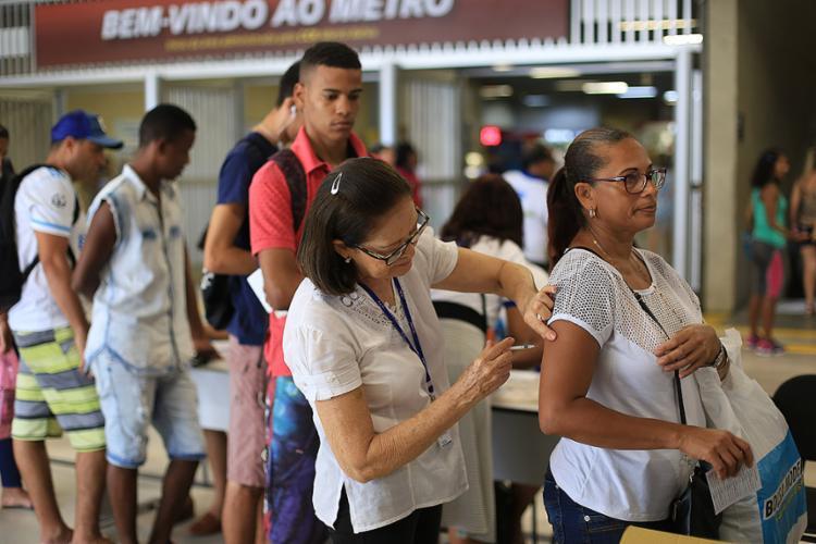 De 1,5 milhão de pessoas esperadas, postos de saúde receberam pouco mais da metade do público-alvo - Foto: Vacinação permanece abaixo da meta