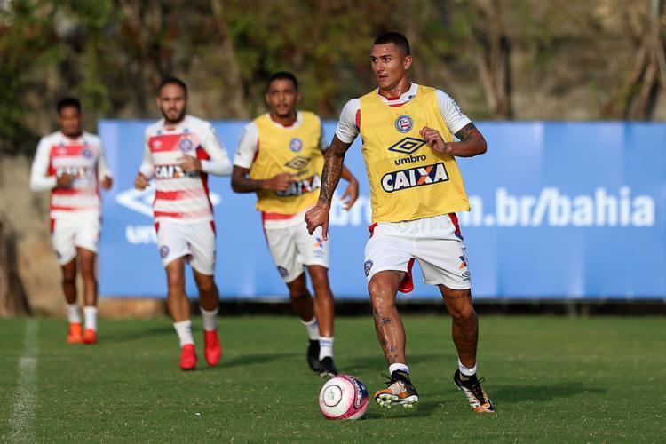 Vinicius começou bem a temporada de 2018, ganhando vaga no time titular e marcando dois gols - Foto: Felipe Oliveira l EC Bahia
