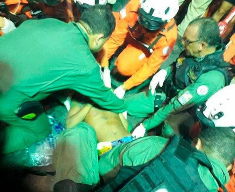 Após a agressão, o jovem teve uma convulsão - Foto: Divulgação | Polícia Militar