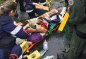 Homem fica ferido em colisão frontal entre caminhões na BA-523 | Foto: Divulgação