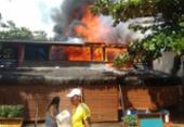 Incêndio atinge restaurante em Morro de São Paulo | Foto: Cidadão Repórter | Via WhatsApp