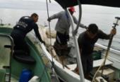 Pescadores são resgatados de barco à deriva na Baía de Todos-os-Santos | Foto: Divulgação | Polícia Militar