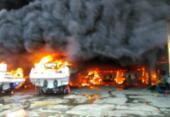 Incêndio de grandes proporções atinge Marina do Bonfim | Foto: Cidadão Repórter | Via Whatsapp