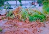 Deslizamento de terra deixa trânsito lento em Cajazeiras | Foto: Reprodução | TV Record