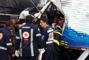 Motorista fica preso às ferragens após acidente no Anel Viário de Barreiras   Reprodução   Blog Braga