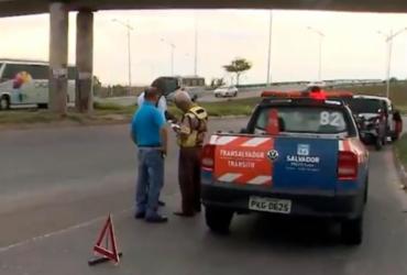 Idoso morre atropelado na avenida São Cristóvão; motorista fugiu | Reprodução | TV Bahia