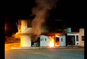 Agência do BB pega fogo em São Domingos | Reprodução | YouTube