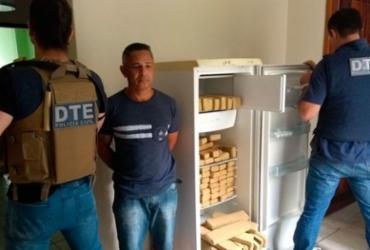 Homem é preso com 100 kg de drogas em Vitória da Conquista   Divulgação   SSP-BA