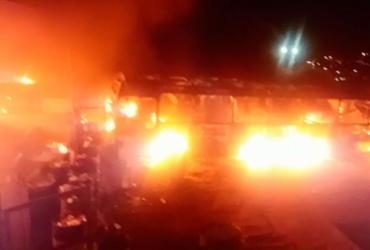Incêndio em garagem de ônibus ainda tem causa desconhecida | Reprodução | Sindicato dos Rodoviários