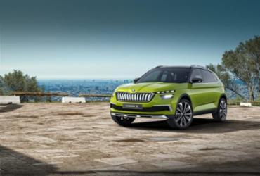 Skoda revela o Vision X, o irmão híbrido do futuro Volkswagen T-Cross   Divulgação