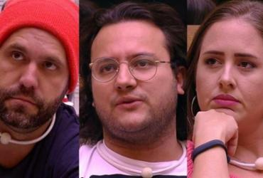 Caruso, Diego e Patrícia formam o sétimo paredão do BBB18 | Divulgação | TV Globo