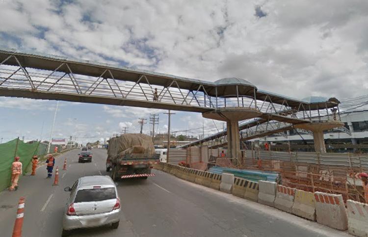 trânsito segue intenso na região, com reflexos no Complexo Viário Dois de Julho - Foto: Reprodução | Google Street View
