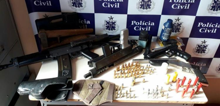 Material foi encontrado por policiais em imóvel no centro da cidade - Foto: Divulgação | Polícia Civil