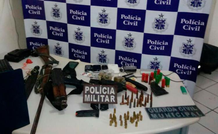Foram encontradas armas e munições com Ceumiranda Neres - Foto: Divulgação   SSP-BA